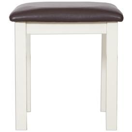 image-Perth French Ivory Dressing Stool