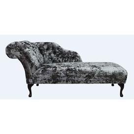 image-Chesterfield Velvet Chaise Lounge Day Bed Lustro Flint Velvet