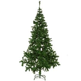 image-7ft Green Artificial Christmas Tree with Stand Home Etc