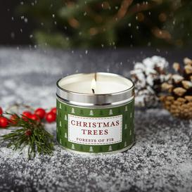 image-Christmas Trees Scented Jar Candle The Country Candle Company