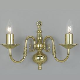 image-Roosevelt 2-Light Candle Wall Light Astoria Grand Finish: Antique Brass