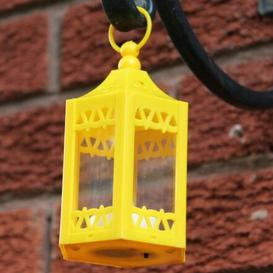 image-LED Tea Light Hanging Lantern Sol 72 Outdoor Colour: Yellow