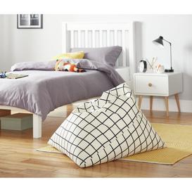 image-Argos Home Large Monochrome Bean Bag