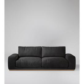 image-Swoon Denver Three-Seater Sofa in Slate Smart Leather With Light Feet