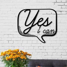 image-Art Series Yes Metal Wall Decor Hashtag Home
