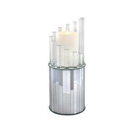 image-Extra Large Mirror And Acrylic Round Candle Holder