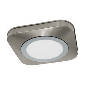 image-Eglo 97555 Olmos 1 Light Bathroom Flush Ceiling Light In Satin Nickel And Chrome