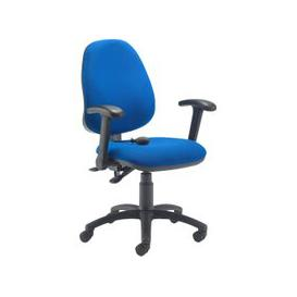 image-Orchid Lumbar Pump Ergonomic Operator Chair With Folding Arms, Blue