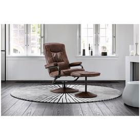 image-Memphis Swivel Chair and Footstool Tan