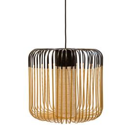 image-Bamboo Light M Outdoor Pendant - H 40 x ├ÿ 45 cm by Forestier Black,Natural bamboo