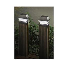 image-Smart Solar 2Pk Solar Garden Post Lights