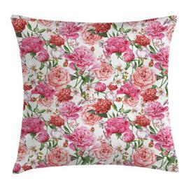 image-Algot Watercolour Flower Peonies and Roses Outdoor Cushion Cover Ebern Designs Size: 45cm H x 45cm W