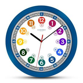 image-Children 30.5cm Silent Wall Clock Cander Berlin Colour: Blue