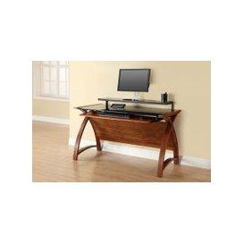 image-Jual Curve Walnut Computer Desk PC201 1300