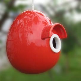 image-Caldicot Hanging Birdhouse Archie & Oscar Colour: Red