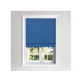 image-Scalloped Blue Roller Blind Blue