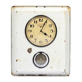 image-Upcycled Collection Old Ceramic Tray Clock with Pendulum