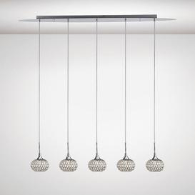 image-Diyas IL31507 Chelsie 5 Light Linear Pendant In Polished Chrome