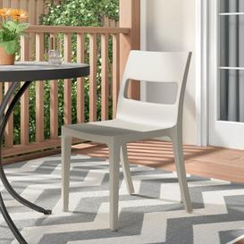 image-Shaw Stacking Dining Chair Dakota Fields Seat Colour: Dove Grey