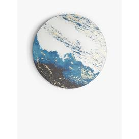 image-John Lewis & Partners Round Art Mirror, 80cm, Blue