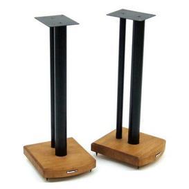 image-60cm Fixed Height Speaker Stand Symple Stuff Finish: Black/Medium Bamboo