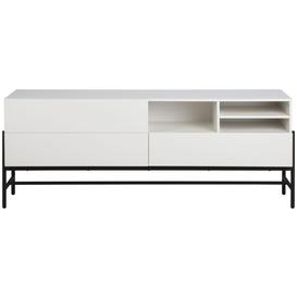 image-Nevis White Sideboard with Black Metal Legs