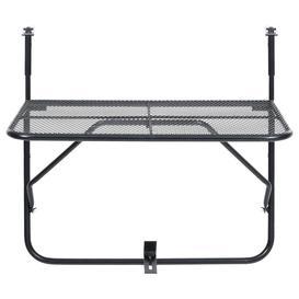 image-Dakota Fields Balcony Table Black 60X40 Cm Steel
