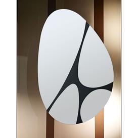 image-Deknudt Pebbles Black Oval Wall Mirror