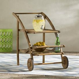 image-Ingrassellino Drink Trolley Sol 72 Outdoor Frame Finish: Brown