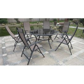 image-Sorrento 6 Seater Dining Set Royal Craft Finish: Taupe