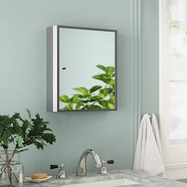 image-Sydnie 40cm x 45cm Wall Mounted Mirror Cabinet Belfry Bathroom