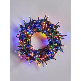 image-Festive 500 Multi Coloured Sparkle Indoor/Outdoor Christmas Lights