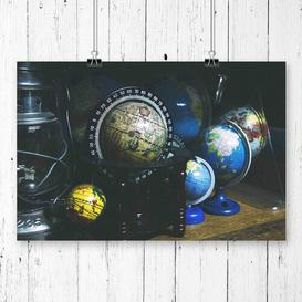 image-'Globe World Map' Graphic Art East Urban Home Size: 29.7 x 42cm
