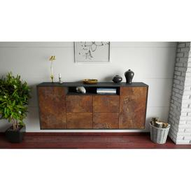 image-Howardwick Sideboard Ebern Designs Colour (Body/Front): Anthracite/Rust