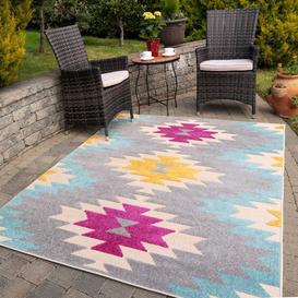 image-Colourful Aztec Outdoor Garden Rug - Opera