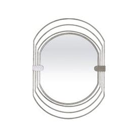 image-Dayton Silver Oval Mirror - 67cm x 91cm