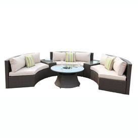 image-Jannik 6 Seater Rattan Sofa Set Sol 72 Outdoor Colour (Frame): Black