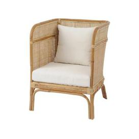 image-Toba Rattan Occasional Chair with Wrap Around High Back