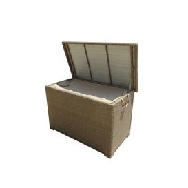 image-LG Outdoor Saigon Rattan Weave Cushion Storage Box