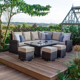 image-Magruder 9 Seater Dining Set with Cushions Dakota Fields