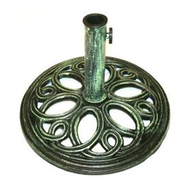 image-12kg Cast Iron Round Umbrella Parasol Base Stand - Green