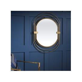 image-Dayton Gold Oval Mirror - 67cm x 91cm