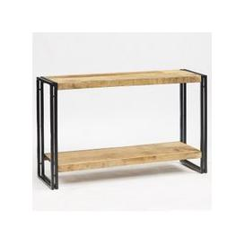 image-Clio Wooden Console Table In Reclaimed Wood And Metal Frame