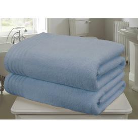 image-Bath Sheet Symple Stuff Colour: Blue