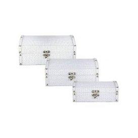 image-Set Of Three Bianco White Jewellery Boxes