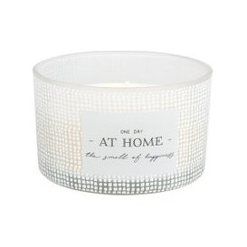 image-Scented 3-Wick Candle in White Glass Holder