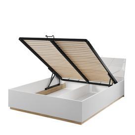 image-Futura FU-13 Bed with Storage - 180 x 200cm White Matt