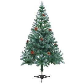 image-5ft Green Pine Artificial Christmas Tree with Stand Berkfield