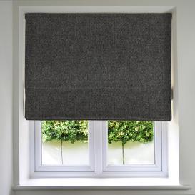 image-Highlands Charcoal Grey Roman Blinds, Blackout Lining / 130cm x 200cm