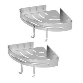 image-Adhesive Corner Shower Caddy - M&w 2 Tier